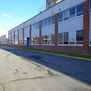 exterior of manufacturing building in dundalk